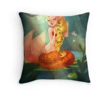 Mermaid Lagoon Throw Pillow