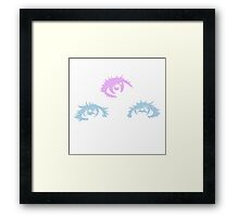 Cute Anime Eyes Framed Print