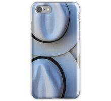 Brown and White Panama Hats iPhone Case/Skin