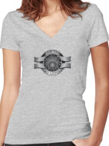 No mud. No Lotus. Women's Fitted V-Neck T-Shirt