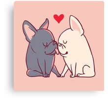 Frenchie Kiss Canvas Print