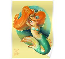 Ginger Mermaid Poster