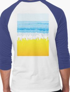 SURF, Beach, Sky, Sea, Ocean, Sand, Surfer, Surfing, Wave, Wave Riding, Body Boarding,  Men's Baseball ¾ T-Shirt