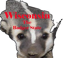 Wisconsin Map with Official State Nickname:  The Badger State by Havocgirl