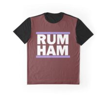 RUM HAM Purple Graphic T-Shirt