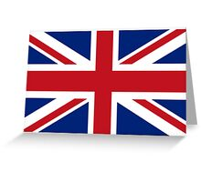 UNION JACK, Pure & Simple, Flag of the United Kingdom, Britain, British flag, Blighty Greeting Card