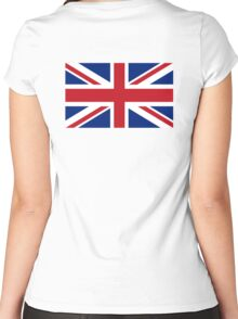 UNION JACK, Pure & Simple, Flag of the United Kingdom, Britain, British flag, Women's Fitted Scoop T-Shirt