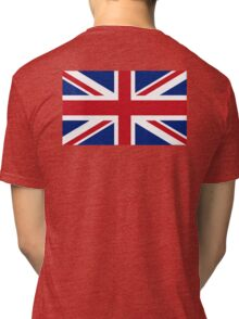 UNION JACK, Pure & Simple, Flag of the United Kingdom, Britain, British flag, Blighty Tri-blend T-Shirt