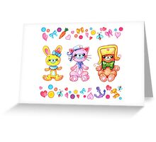 Cute set of animals for kids Greeting Card