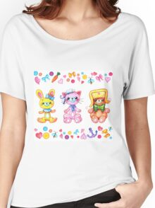 Cute set of animals for kids Women's Relaxed Fit T-Shirt