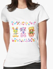 Cute set of animals for kids Womens Fitted T-Shirt