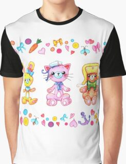 Cute set of animals for kids Graphic T-Shirt