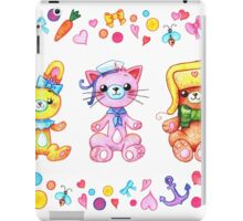 Cute set of animals for kids iPad Case/Skin