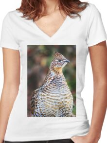 Partridge Photo Women's Fitted V-Neck T-Shirt