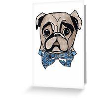 Bandana Bowtie Pug Art Print Greeting Card