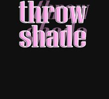 THROW SHADE, insult, put down, drag, abuse, Pink Womens Fitted T-Shirt