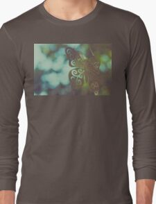 Bokeh With Butterfly Wings Long Sleeve T-Shirt