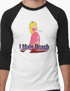 I Main Peach - Super Smash Bros Melee Men's Baseball ¾ T-Shirt