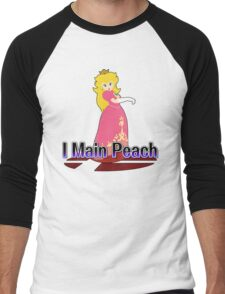 I Main Peach - Super Smash Bros Melee Men's Baseball ¾ T-Shirt
