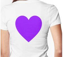 PURPLE, HEART, blue, violet, mulberry, amethyst, plum, lilac, mauve, Womens Fitted T-Shirt