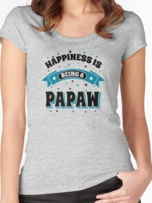 Happiness is Being Papaw Women's Fitted Scoop T-Shirt