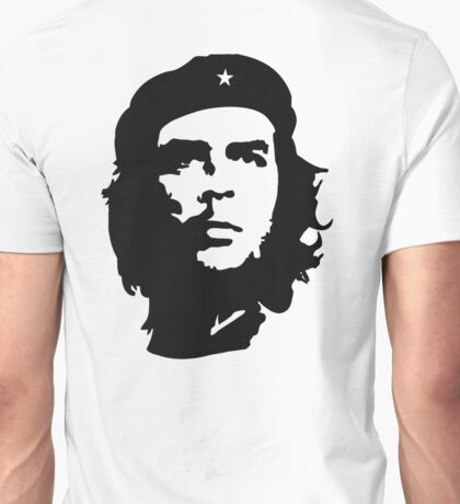 CHE, Che Guevara, Revolution, Marxist, Revolutionary, Cuba, Power to the people! Black on White Unisex T-Shirt