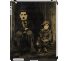 Charlie Chaplin and the Kid Old Style iPad Case/Skin