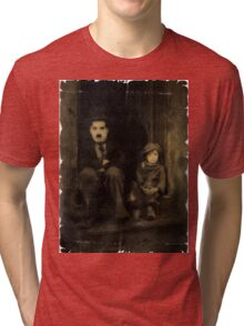 Charlie Chaplin and the Kid Old Style Tri-blend T-Shirt