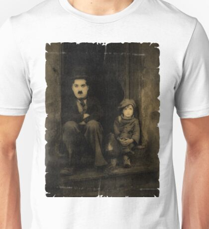 Charlie Chaplin and the Kid Old Style Unisex T-Shirt