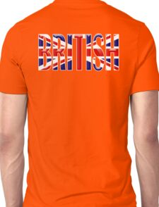 BRITISH, Union Jack, Patriot, Britain, England, Scotland, Ireland, Wales. UK, Navy, Blue Unisex T-Shirt