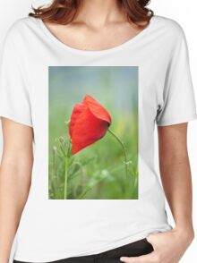 Wild red poppy Women's Relaxed Fit T-Shirt