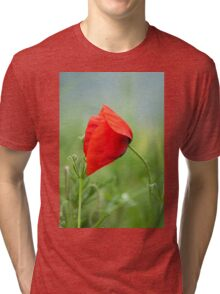 Wild red poppy Tri-blend T-Shirt