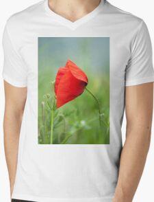 Wild red poppy Mens V-Neck T-Shirt