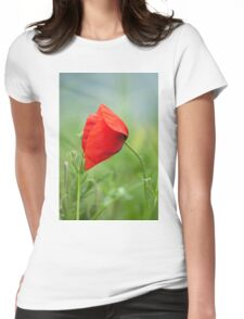 Wild red poppy Womens Fitted T-Shirt