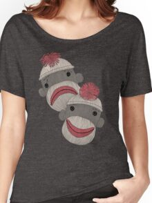 Tragedy and Comedy Sock Monkeys Women's Relaxed Fit T-Shirt