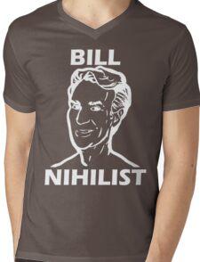 Bill Nihilist (White) Mens V-Neck T-Shirt