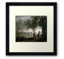 JEAN-BAPTISTE-CAMILLE COROT,  ORPHEUS LEADING EURYDICE FROM THE UNDERWORLD Framed Print