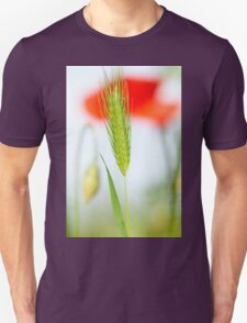 Grass and red poppy Unisex T-Shirt