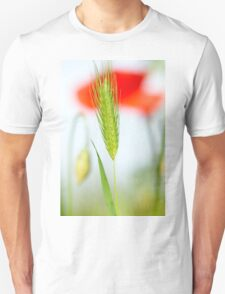 Grass and red poppy T-Shirt