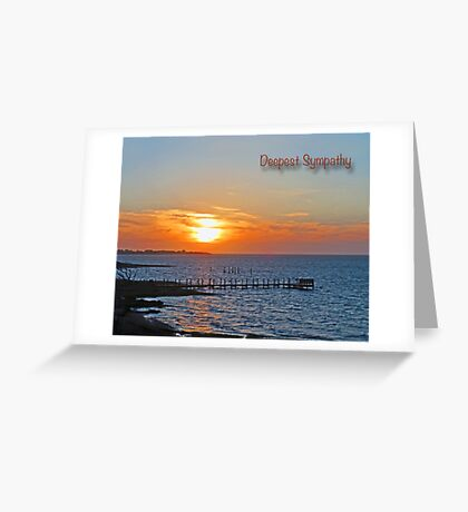 Deepest Sympathy Sunset Greeting Card Greeting Card