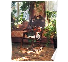 Rocking Chair in Victorian Parlor Poster