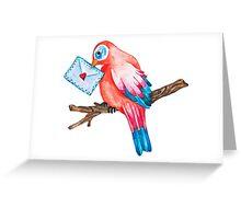 Watercolor Love Bird Greeting Card