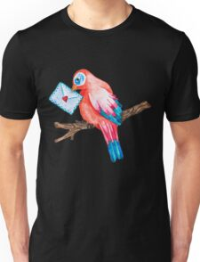 Watercolor Love Bird Unisex T-Shirt