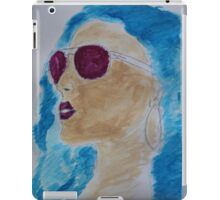 blue hair girl fashion iPad Case/Skin
