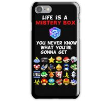 Life is a Mistery Box (of Mario Kart) A iPhone Case/Skin