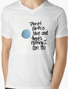 planet earth is blue Mens V-Neck T-Shirt