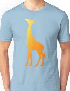 Golden Giraffe Silhouette Unisex T-Shirt