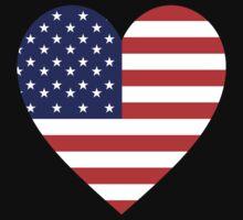 American, Heart Flag, Heart, Stars & Stripes, America, Americana,  Pure & Simple, America, USA Baby Tee