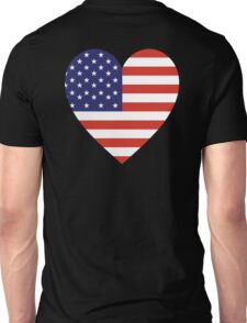 American, Heart Flag, Heart, Stars & Stripes, America, Americana,  Pure & Simple, America, USA Unisex T-Shirt