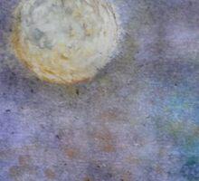 Full moon, azure sky Sticker